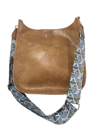 Camel Messenger Bag with Aztec Guitar Strap