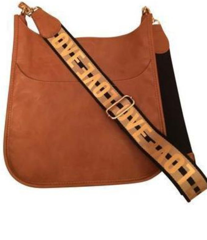 Camel Messenger Bag with Love Strap