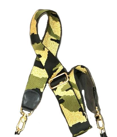 Camo Metallic Bag Strap