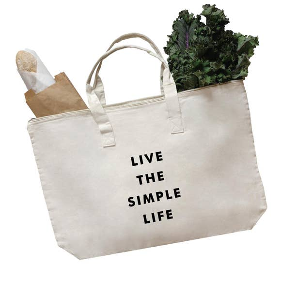 Live the Simple Life LARGE Tote