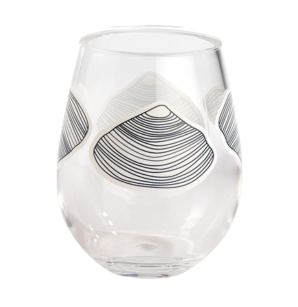 Clamshell 15oz Stemless Wine Melamine