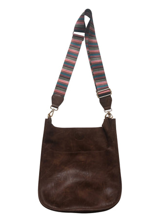 Coffee Messenger Bag w/ Stripe Strap
