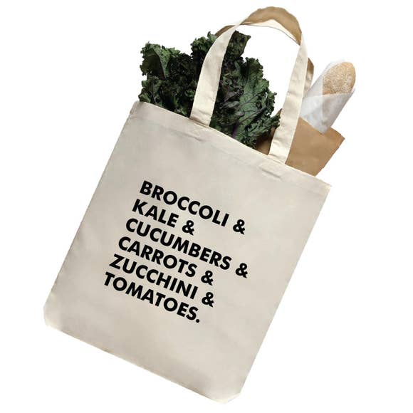 Broccoli Veggie Large Reusable Tote