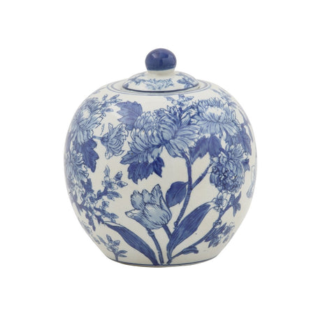 Chinoiserie Blue Ginger Jar 7""