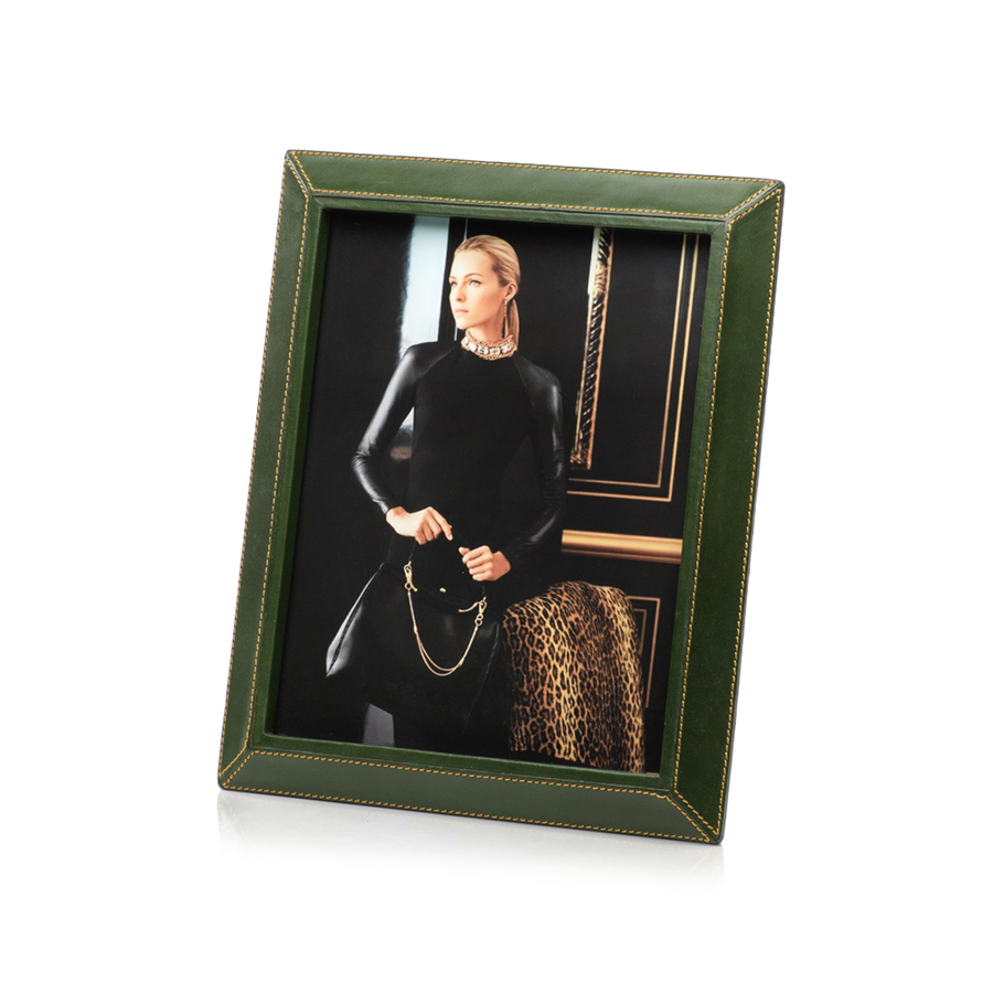 Green Leather 8x10 Frame