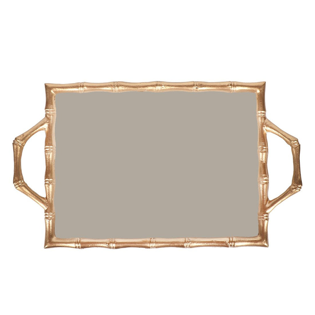 Taupe Color Block Bamboo Tray 10x14