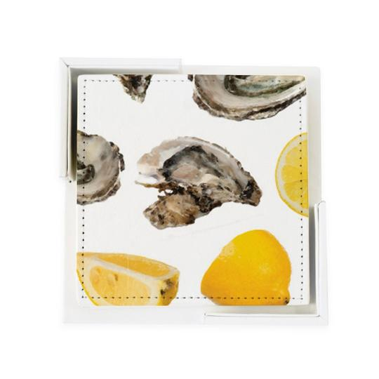 World is Your Oyster Coaster Set/ 6