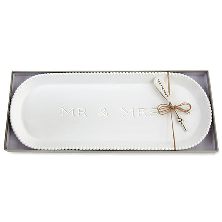 Mr Mrs Beaded Hostess Tray Set