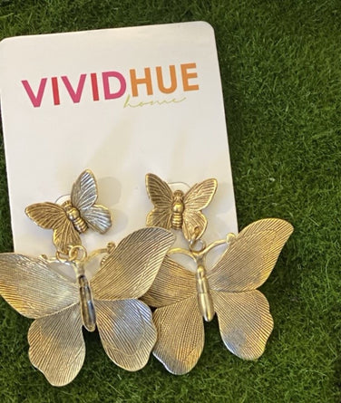 Butterfly 2 Pendant Earrings Ep1433