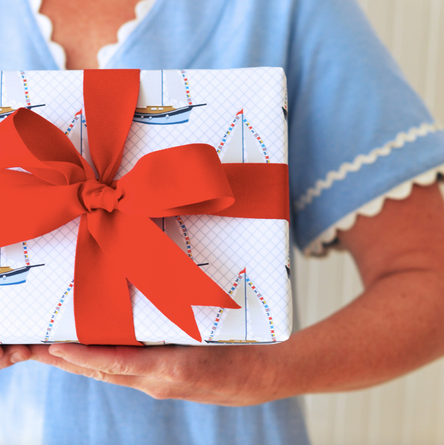 Sailboat Gift Wrap Sheets