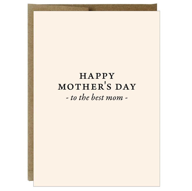 Best Mom Happy Mother's Day Greeting Card
