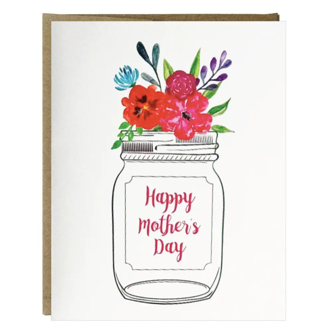 Mother's Day Mason Jar Greeting Card