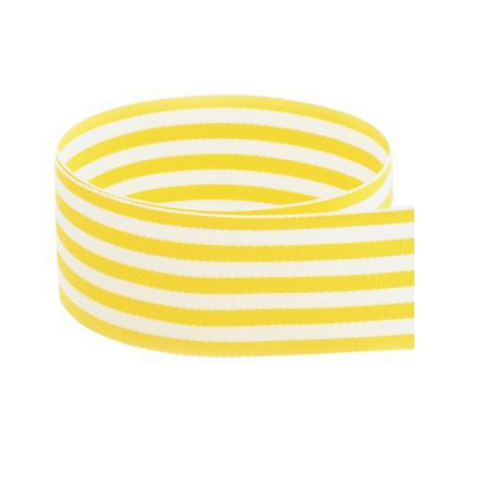 PREPPY STRIPED GROSGRAIN RIBBON | YELLOW