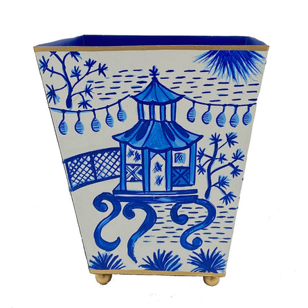 "Blue Garden Party 6"" Cachepot"