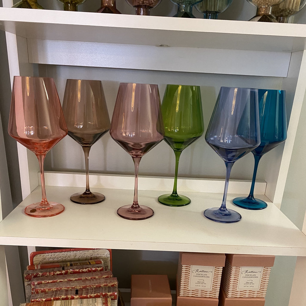 Estelle Custom Colored Wine Stemware - Set of 6 {Custom Set}