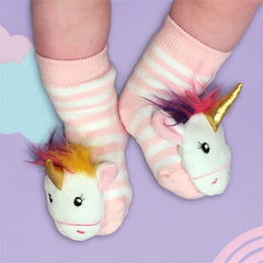 Unicorn Baby Rattle Socks