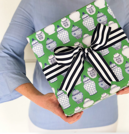 Green Ginger Jar Gift Wrap Sheets