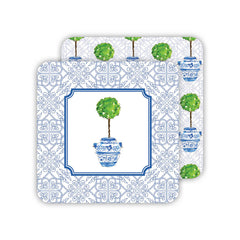 Topiary In Blue Urn Coaster