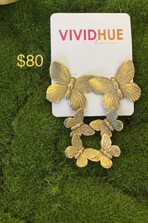 Butterfly 3 Pendant Earrings Ep1703