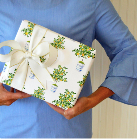 Lemon Tree Gift Wrap Sheets