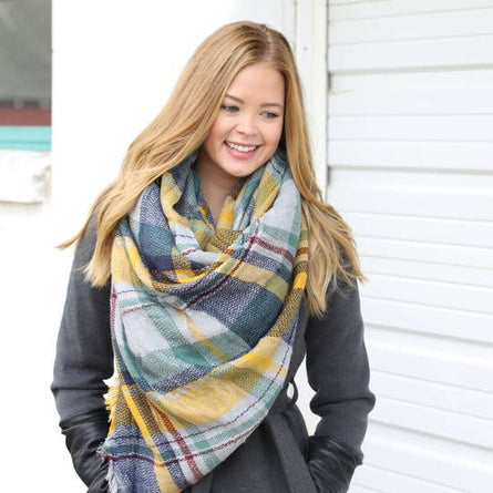 Muted Sunset Blanket Scarf