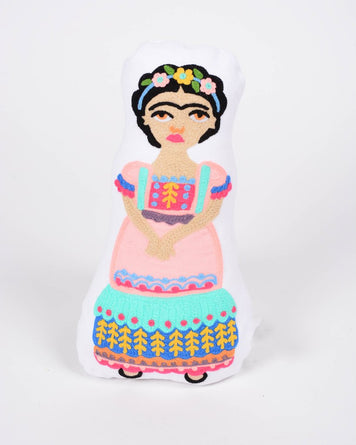 Embroidered Frida Kahlo Doll