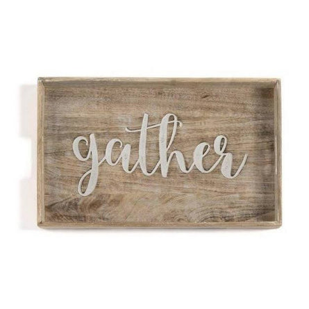 "Gather Wood Tray 20"" X 13"""