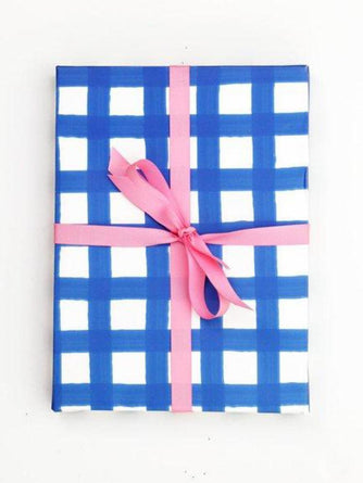 Blue and White Gingham Wrapping Paper