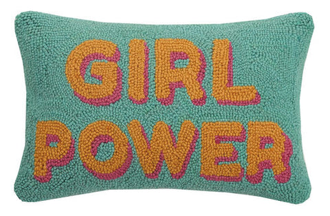 Girl Power Hook Pillow