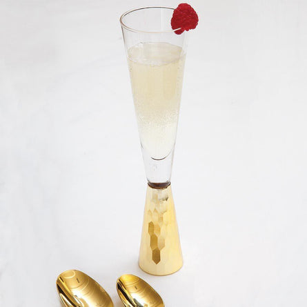 Geo Gold Champagne Glass