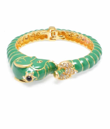 Deep Green Elephant Bangle