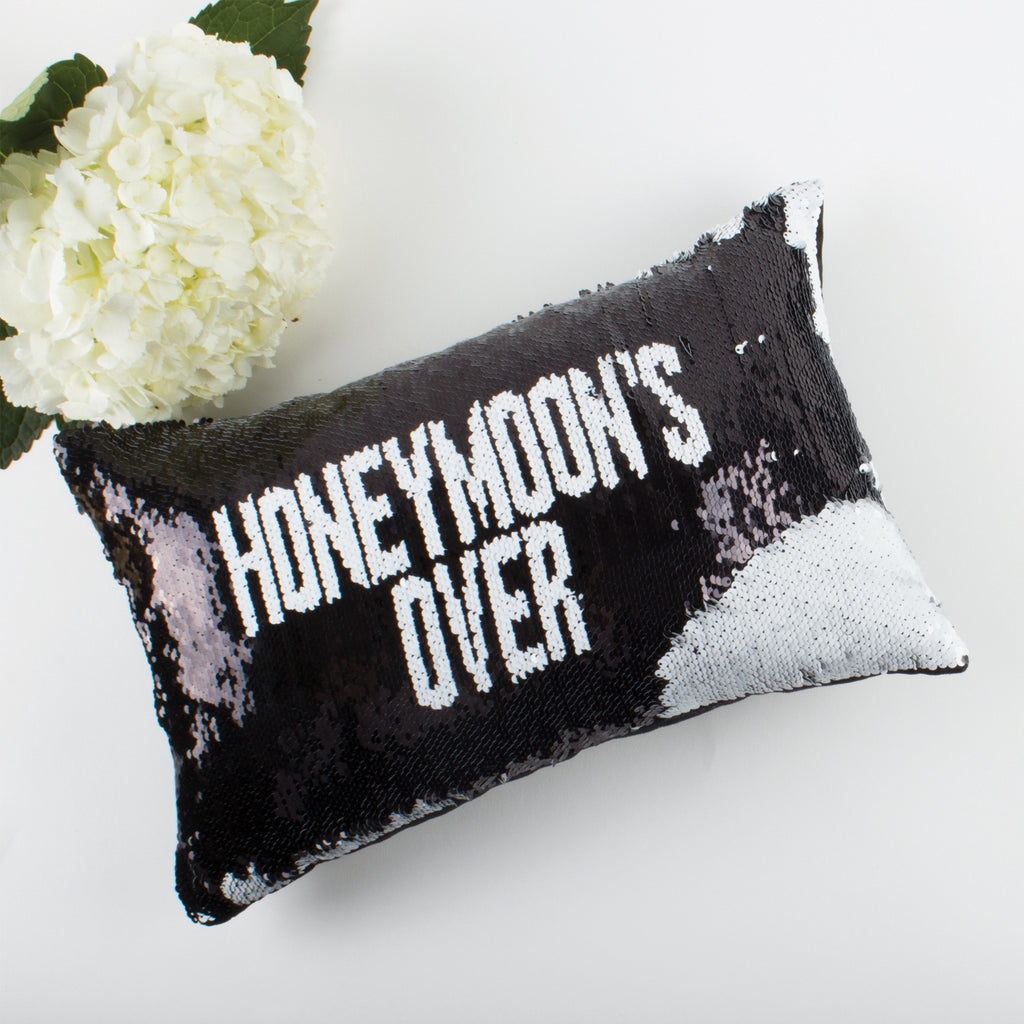 Sequin Honeymoon Pillow