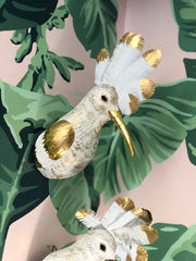 Hoopoe Mount Wall Art White