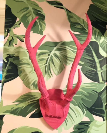 Hot Pink Antler Wall Art