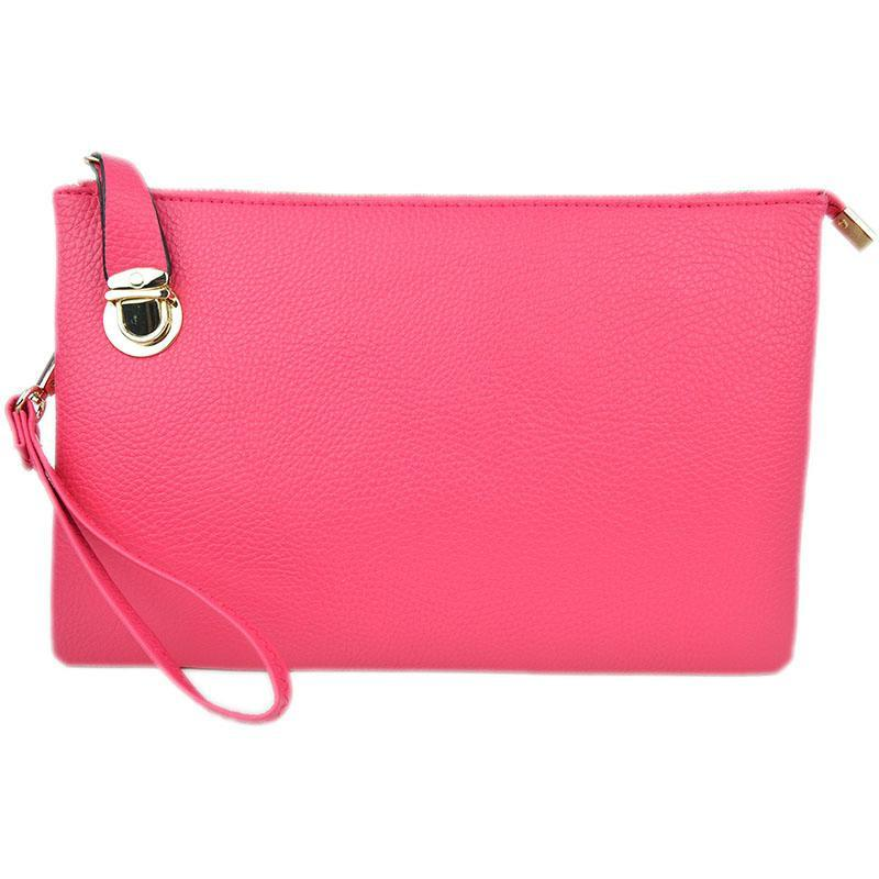 Florence Hot Pink Crossbody Clutch