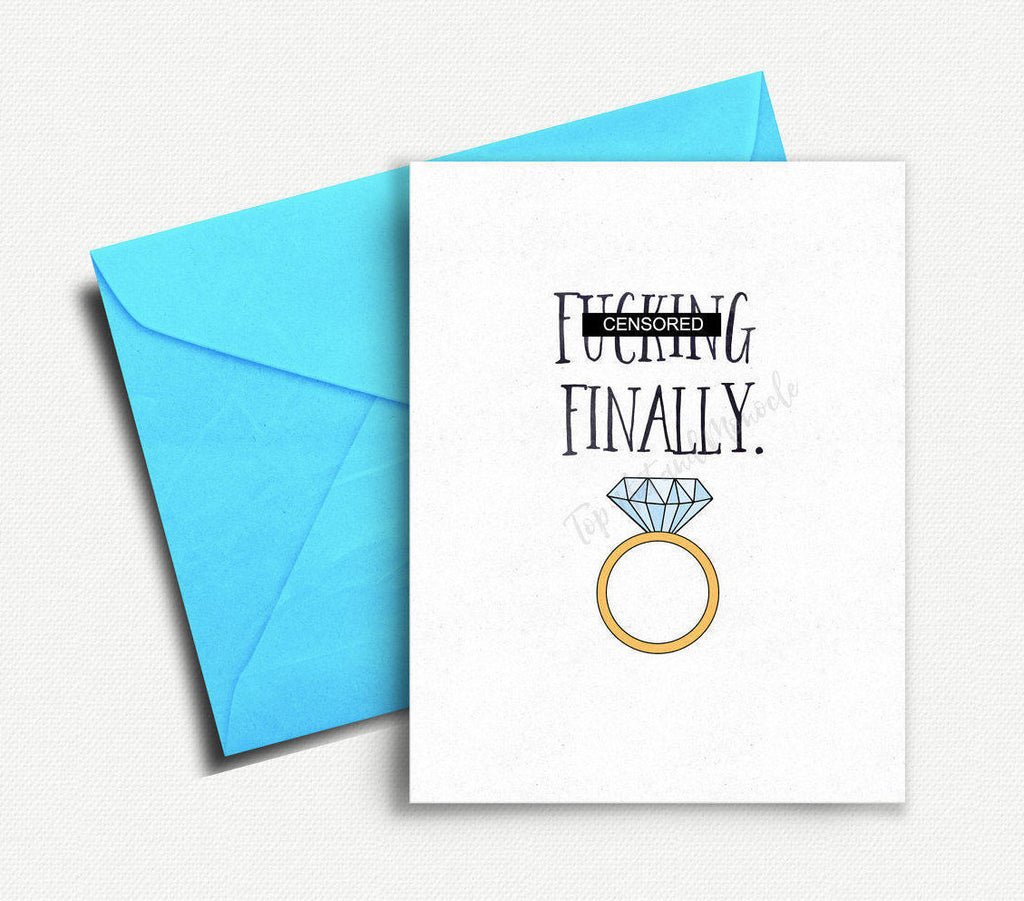 Finally Wedding Card