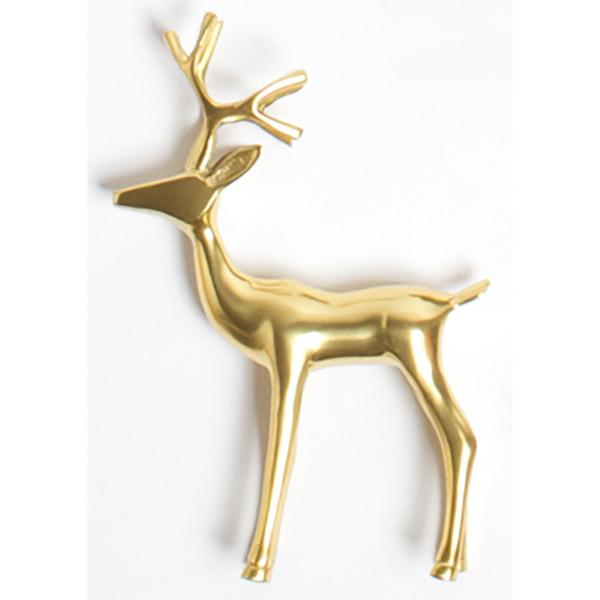 Large Gold Reindeer Figure