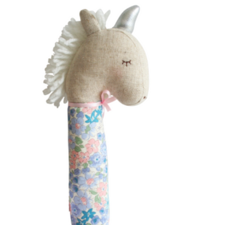 Yvette Unicorn Squeaker Liberty Blue