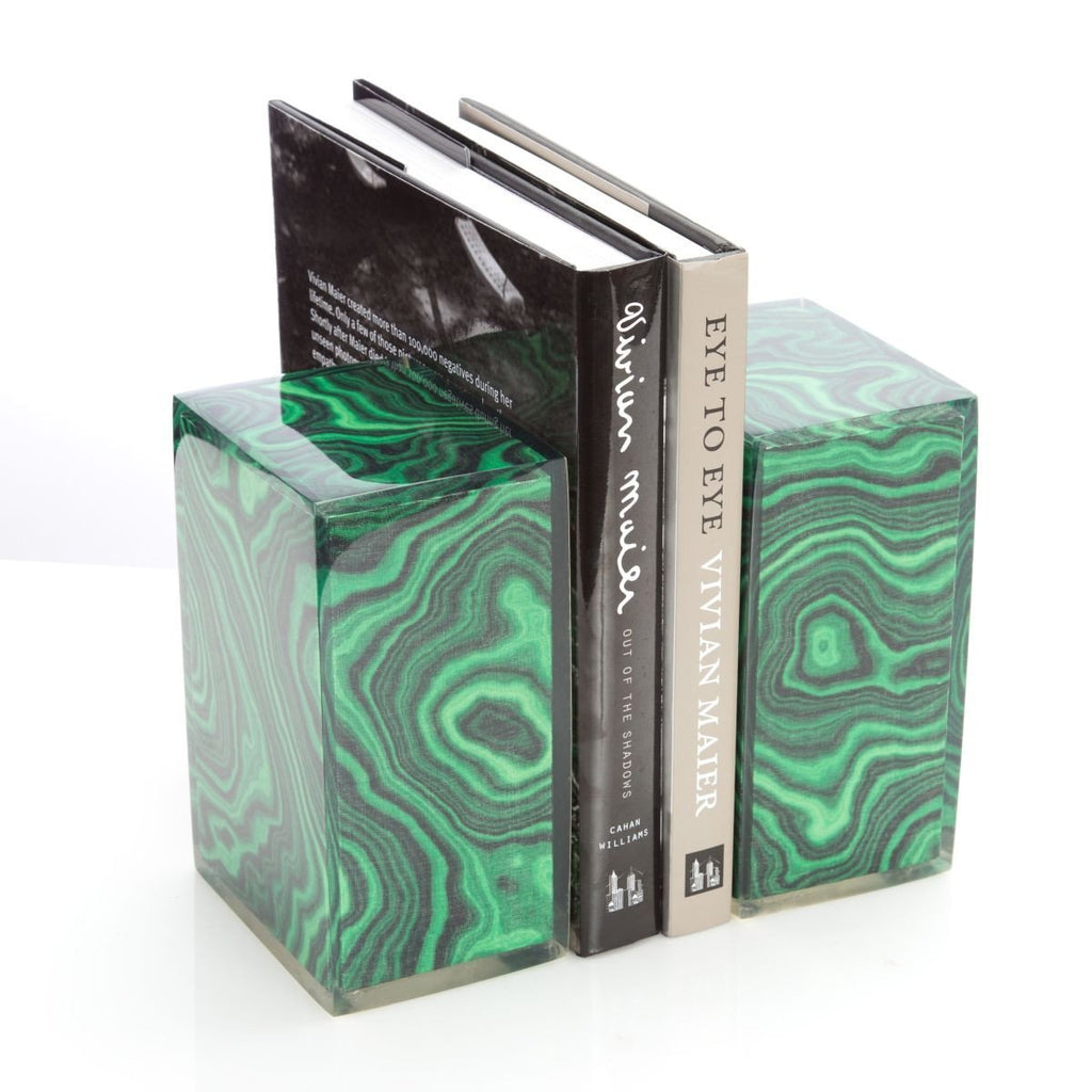 Malachite Bookends