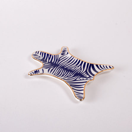 Mini Blue Zebra Skin Dish