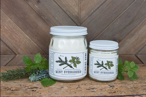 Mint Evergreen Soy Candle 13oz