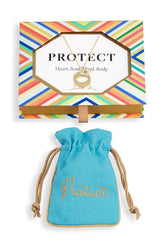 Protect Medallion Cutout Necklace