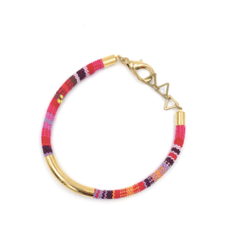 Multicolor Stripe Tribal Cord Bracelet