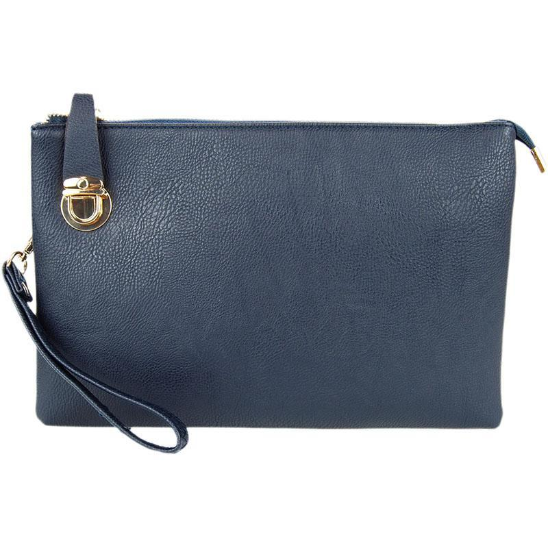 Florence Navy Crossbody Clutch