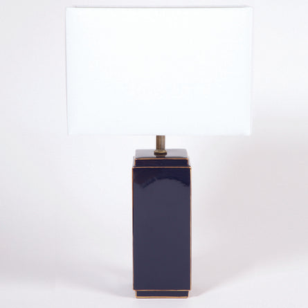 Navy Regency Lamp