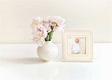 "Blush Notch 7"" Square Frame"