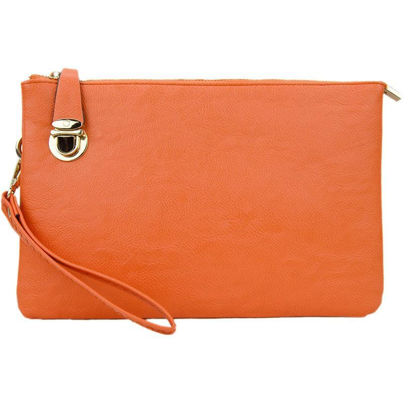 Florence Orange Crossbody Clutch