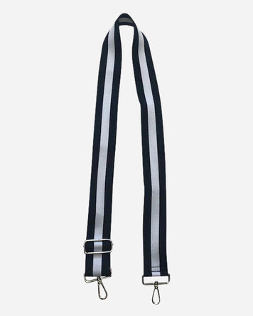 Navy and White Stripe Adjustable Bag Strap