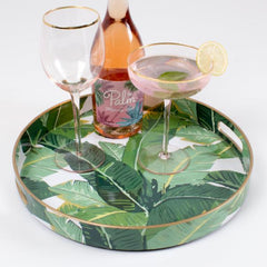 Round Palm Serving Tray