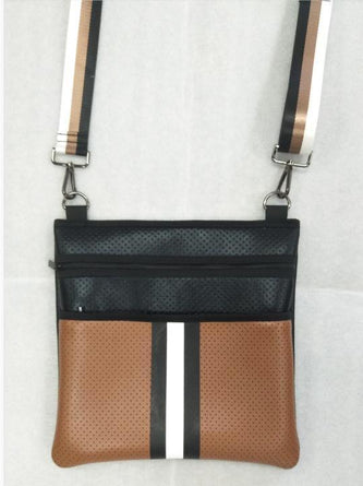 Peyton Rich Black/brown Crossbody